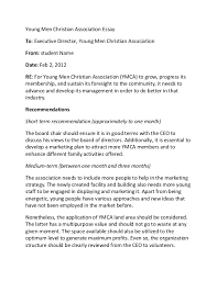 young men christian association essay young men christian association essay to executive director young men christian association from