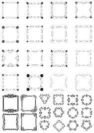 rectangular border frame set free