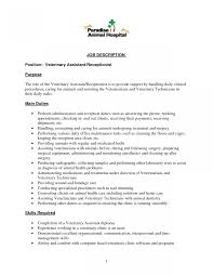 Veterinarian Resume Fascinating Resume For Veterinarians Example About Vet Assistant 42