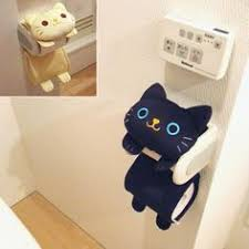 cozy paper holders. Cat Toilet Paper Holder Roll Storage Cover / Black Tiger Kitty Fluffy Kawaii Cozy Holders