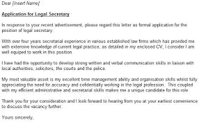 Sample Secretary Cover Letter Sarahepps Com
