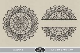 Download mandala bundle svg| the very therapeutic zentangle bundle (59961) today! Mandala Design 3 Boho Graphic Svg Eps Png Dxf 356589 Svgs Design Bundles In 2020 Mandala Design Mandala Design Art Mandala