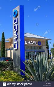 a branch of chase bank in a florida setting stock image