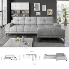 bmf mamba modern corner sofa bed
