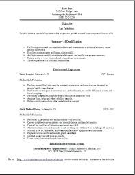 Medical Lab Tech Resume Sample Lab Technician Resume Free Edit With