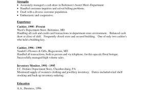 Grocery Store Cashier Job Description For Resume Fair Retail Stock Clerk Resume Sample With Customer Service Clerk 40