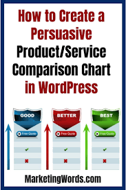 Comparison Charts Are One Of The Most Effective Conversion