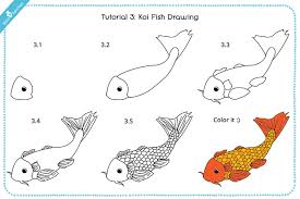 koi fish drawing step by step. Plain Step Koicoy Fish Drawing For Kids With Images On Koi Step By
