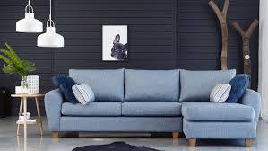 light blue furniture. Beautiful Light Home  Furniture Lounges Fabric Option Sofa With  Chaise Light Blue And P