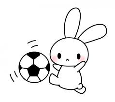 サッカーうさぎのイラスト素材 無料イラスト素材素材ラボ