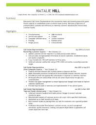 Resume Objective For Customer Service Call Center Best of Callcenterrepresentativecustomerserviceresumeexampleemphasis