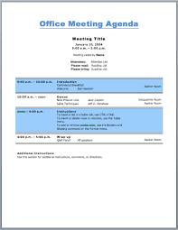 Work Meeting Agenda Office Meeting Agenda Template For Business Purpose