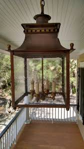 I Hanging Lantern Indoor Lanterns Copper Lighting Battery  Park Shown In Dark And Optional Clear Seedy Glstandard Size