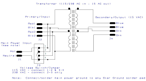 ps12 5 power supply tortuga audio 480 Volt Transformer Wiring Diagram ps12 5 transformer wiring schematic