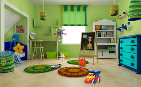 ... Amazing Decoration For Kids Playroom Furniture Ikea Design Ideas :  Exciting Green Wall Painting Room Pictures ...