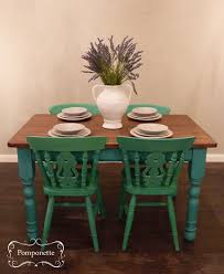 Green Painted Dining Chairs - Dining room sets with colored chairs