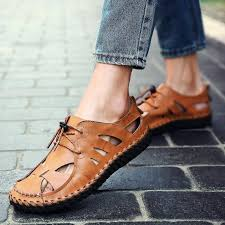 BIMUDUIYU New <b>Men Sandals</b> Brand <b>Leather</b> Summer Casual ...