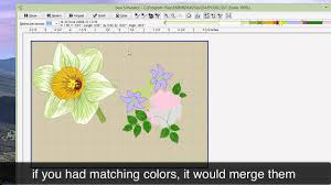 Combine Embroidery Designs Embird Tutorial How To Merge Two Embroidery Designs