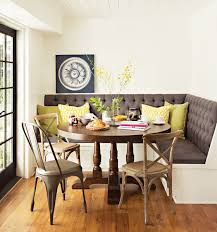 kitchen kitchen table set with bench shocking the arlo round dining table creates perfect breakfast nook