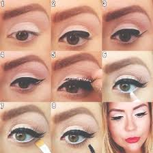 learning makeup artist brittany halls s cat eye look in five steps