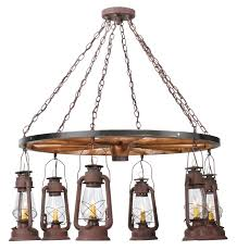 lantern pendant light fixture elegant miners lantern wagon wheel six light chandelier