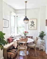 Cozy kitchen nook, rustic decor, corner bench, kilim pillows, cozy ...