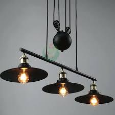 retractable hanging light vintage loft industrial