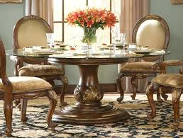 glass and wood round dining table impressive traditional round glass dining table glass dining room table