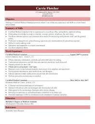 Medical Assistant Resume Examples Medical Assistant Resume Samples