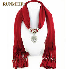 new design skull statement jewelry scarf necklace for women fashion luxury charms accessories scarf necklace gifts