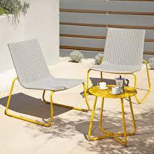 Grasstanding eplap 17621 urban furniture Reception Ventura Piece Bistro Grey And Yellow Garden Furniture Homegramco Yellow Outdoor Furniture Interior Designs Ideas Igexaous