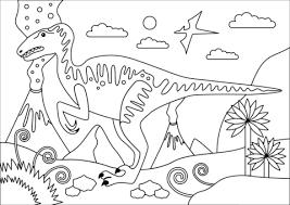 Velociraptor Dinosaurus Uit Krijtperiode Kleurplaat Gratis