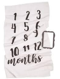 Mud Pie Growth Chart Mud Pie Monthly Milestone Blanket