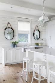 white cottage kitchens. White Cottage Kitchen With Oval Rope Mirrors Kitchens C
