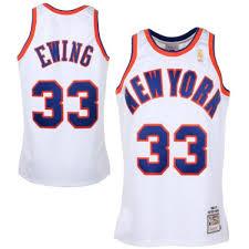 White Ewing Throwback Swingman amp; And New Patrick Ness Mitchell Big Jersey Men's York Tall Knicks