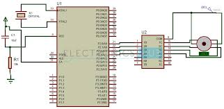 stepper motor interfacing 8051 microcontroller stepper motor control using 8051 microcontroller circuit diagram