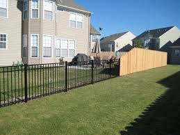 aluminum privacy fence. Aluminum To Cedar Privacy Fence N