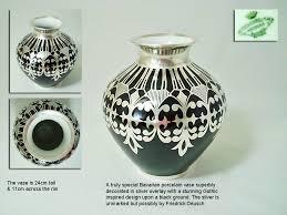 a friedrich spahr silver overlay magnolia vase