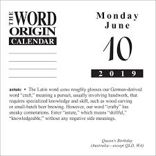 Word Origin Word Origin 2019 Day To Day Calendar Gregory Mcnamee 0050837419339