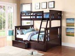 8422 Jerome espresso finish wood twin over full bunk bed set with ...