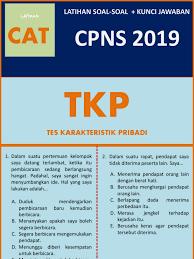 Tes karakteristik pribadi (tkp) cpns adalah salah satu materi tes seleksi kompetensi dasar (skd) cpns. Latihan Soal Cpns 2019