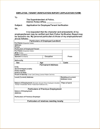 Sample Tenant Verification Form Doctemplates123