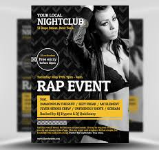 Club Flyer Templates Free Typographic Club Flyer Template Flyerheroes