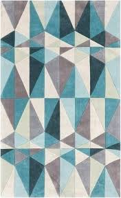 teal geometric rug add a splash of color and vibrancy to your home decor with this