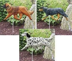 dog garden sculptures yard statues