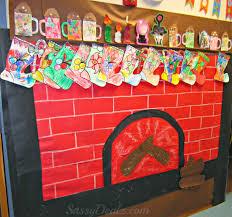 christmas bulletin board ideas. Fireplace Christmas Bulletin Board For Ideas