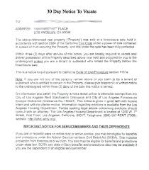 30 day notice to landlord form sample 30 day notice to terminate tenancy printable sample day