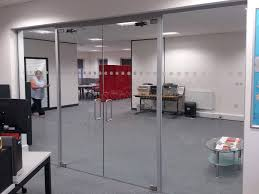 glass door for office. Pruftechnik Ltd (Lichfield, Staffordshire): Glass Partition With Framed Double Doors Door For Office