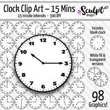 Clock Clip Art Every 15 Minutes