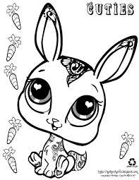 Cuties Rabbit Kleurplaten Coloring Sheets Kleurplaten En Dieren